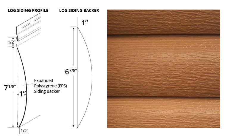 EM 8 Log Siding Profile